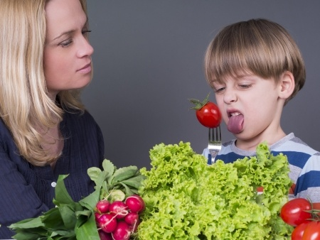children to eat vegetables